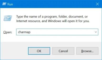 Открыть карту символов в Windows