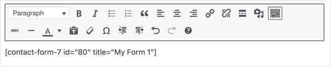 Добавить контактную форму в классическом редакторе
