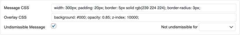 Отрегулируйте CSS всплывающего сообщения