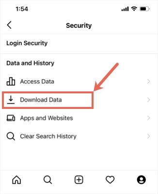 Скачать ссылку на данные в мобильном приложении