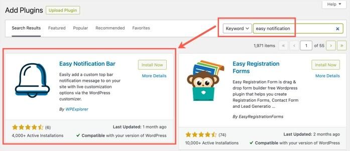 Установите Easy Notification Bar