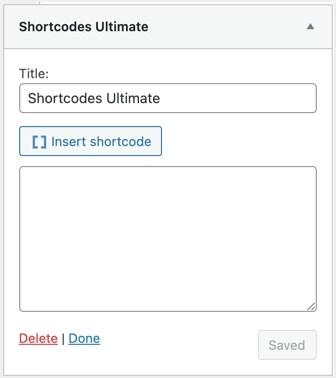 Шорткоды Ultimate Widget