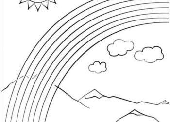 Sammlung von Regenbogen Malvorlagen, um Kindern zu helfen