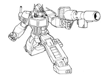 Collection of Robot coloring pictures for boys to practice