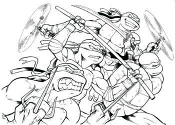 忍者神龜最有趣的著色頁集合為孩子們