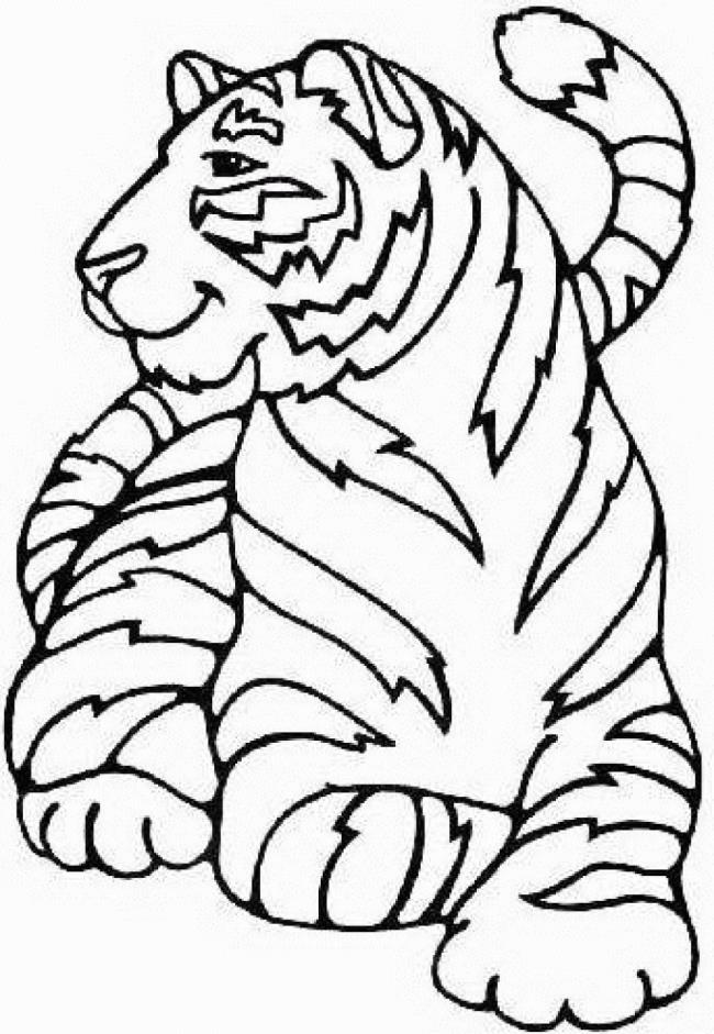Mewarnai Gambar Harimau : mewarnai, gambar, harimau, Ringkasan, Gambar, Mewarna, Harimau, Diberikan, Kepada, Anak-anak