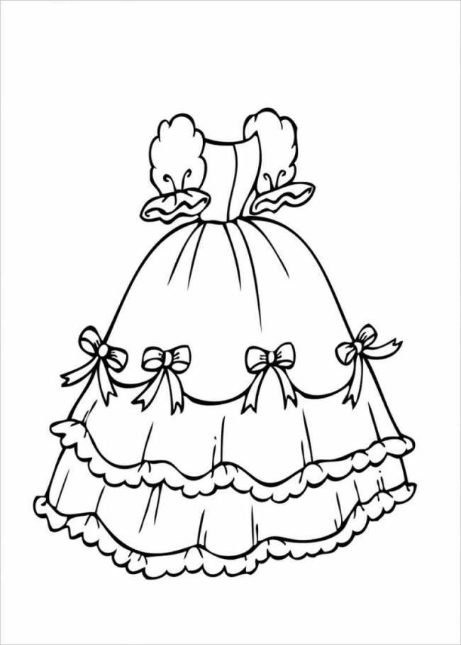 Sammlung der schönsten Prinzessin Kleid Malvorlagen für