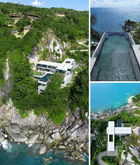 Invisible edges death defying infinity pool designs for Cliff hanging homes