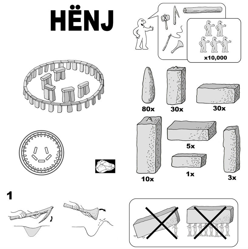 ikea, ikea stonehenge, infographic, ikea instructions
