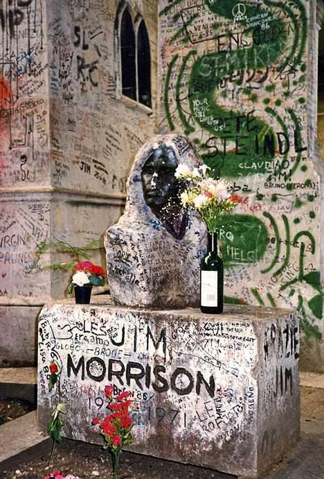 Jim Morrison's grave Paris