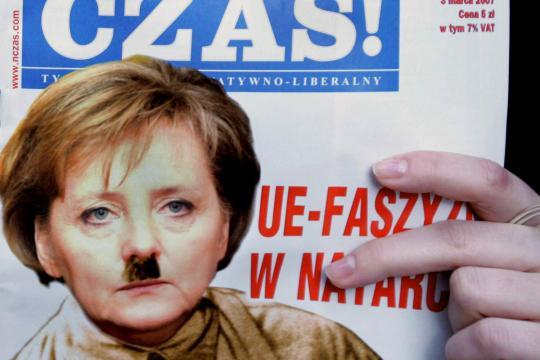 Nazi-Merkel-Polen