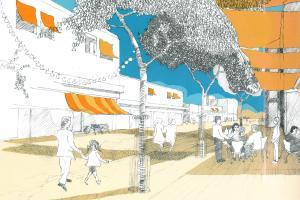 In der Stadt für Flüchtlinge soll es auch einen Boulevard mit Straßencafés geben