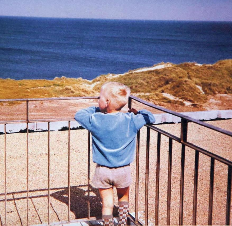 The author at the age of eight in 1968 on a roof terrace in Wenningstedt