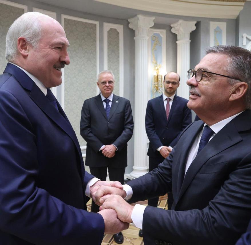 Lukashenko promotes the Ice Hockey World Championship to IIHF President Fasel