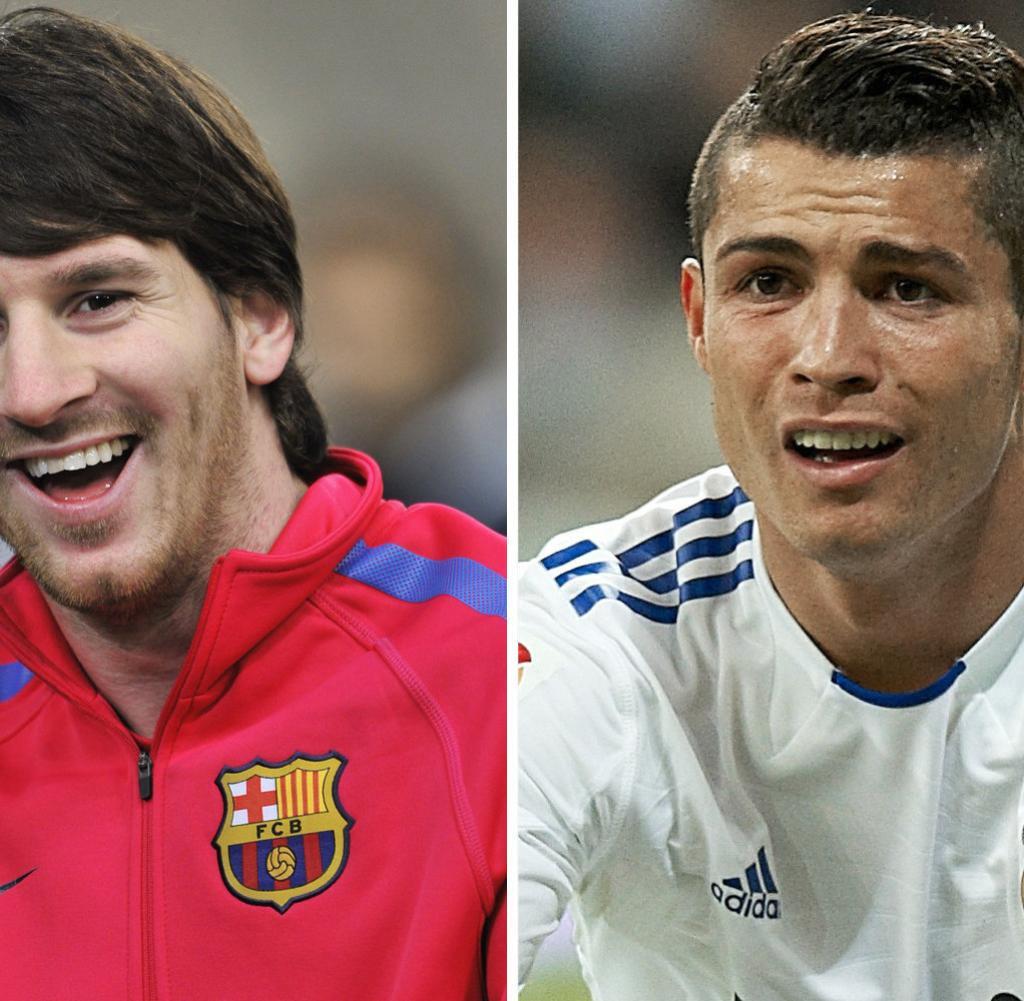 Ronaldo Früher : Barca Vs Real Messi Gegen Ronaldo Das Duell Der Weltfussballer Welt