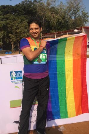 Die Regenbogenfahne, Symbol der Schwulen und Lesben – auch in Indien