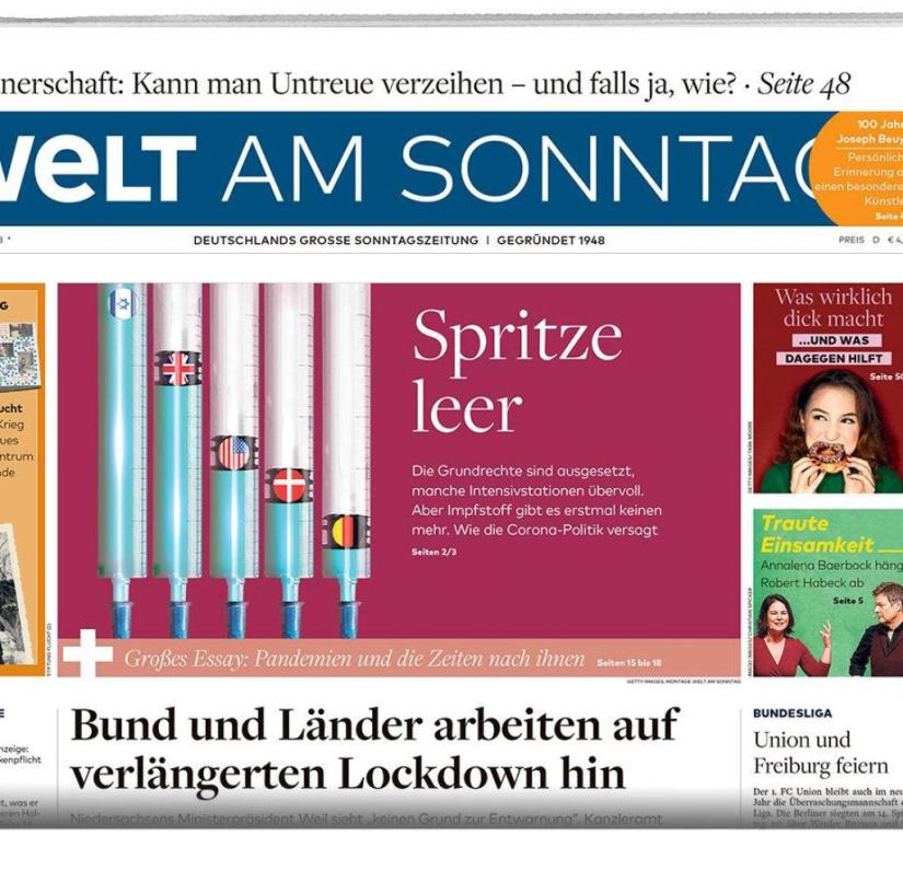 Welt am Sonntag E-Tag January 03, 2021 Packshot half page