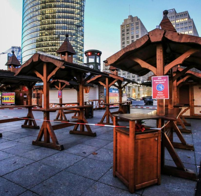 Closed: Also the Christmas market at Potsdamer Platz in Berlin