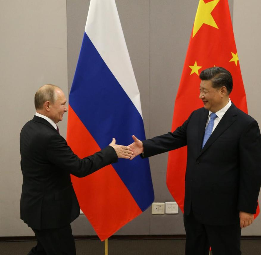 Vladimir Putin and Xi Jinping (from left): Approach course with difficulties