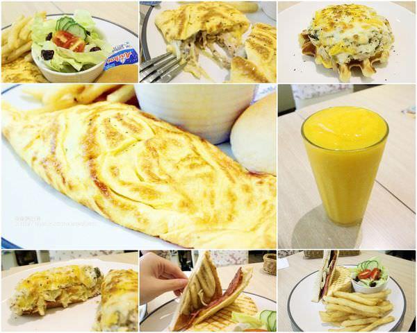 科技大樓捷運站早午餐推薦|美食22號咖啡館 滑嫩多汁的歐姆蛋緊密包覆著食物的香味滿足你的味蕾