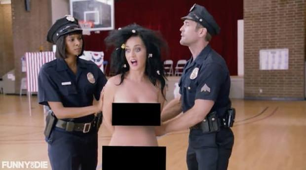 Katy Perry naked voting