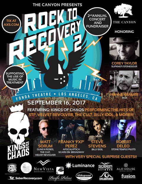 All-Star Rock to Recovery 2 to Honor Corey Taylor, MC5's Wayne Kramer