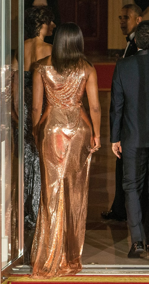 Image result for michelle obama in versace