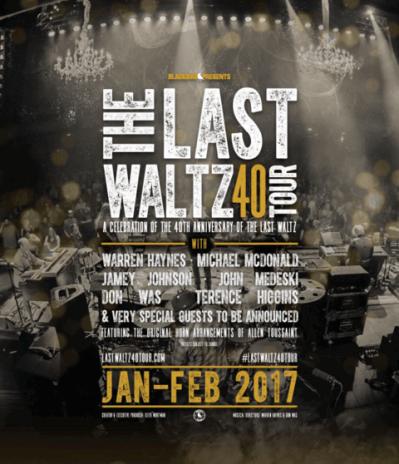 Last Waltz Tour poster 2017