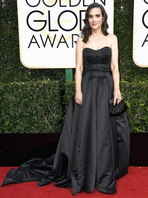 Image result for winona ryder golden globes 2017
