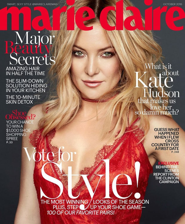 Kate Hudson on the cover of Marie Claire