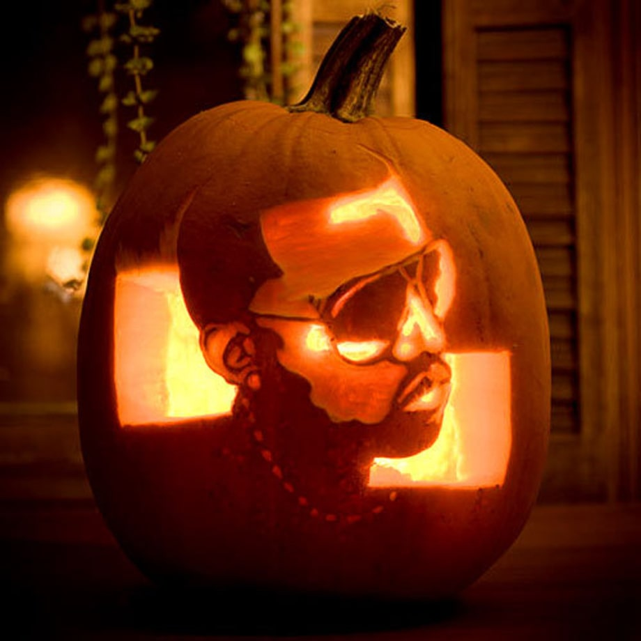 Kanye West  Photos Pumpkins Carved to Look Like Rock Stars  Rolling Stone