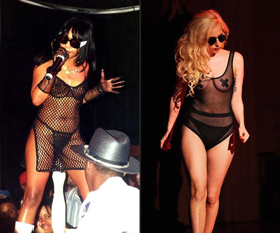 Fishnets  Nipple Tape  Lady Gagas Fashion Icons