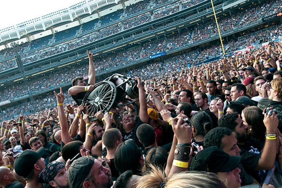 Wheelchair CrowdSurfing  The Big 4 at Yankee Stadium  Rolling Stone