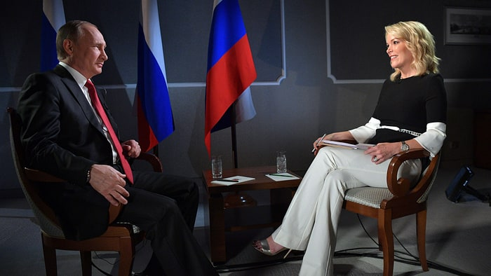 Image result for Images of Putin and Megyn Kelly