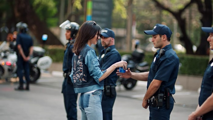 Image result for kendall pepsi ad