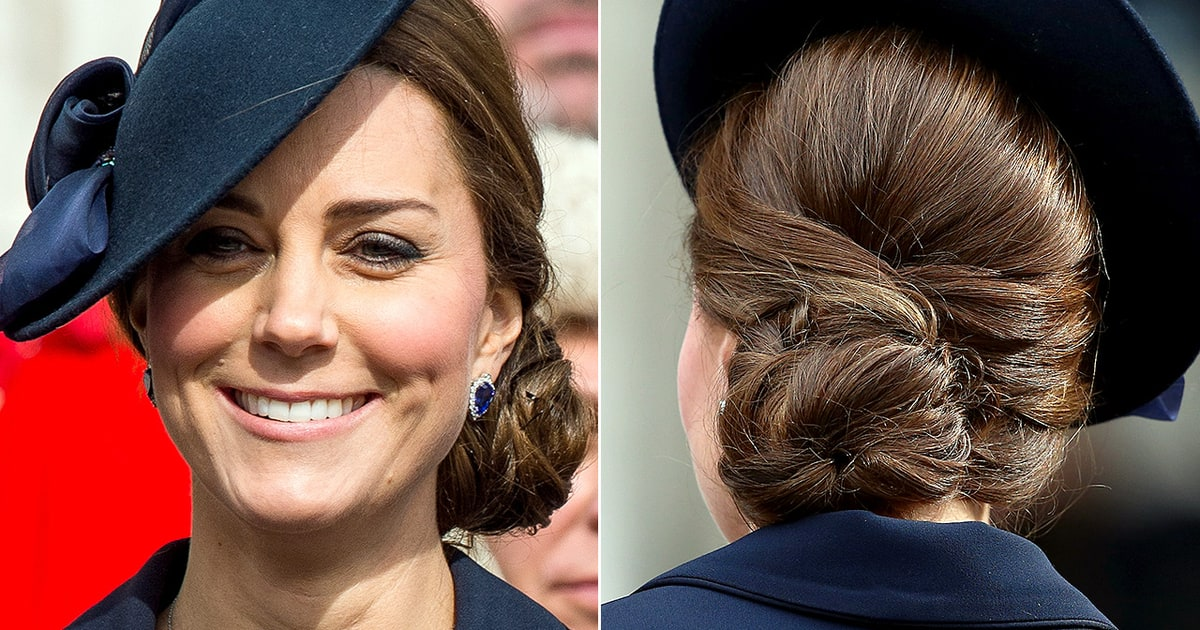 Side Chignon Kate Middletons Best Hairstyles Us Weekly