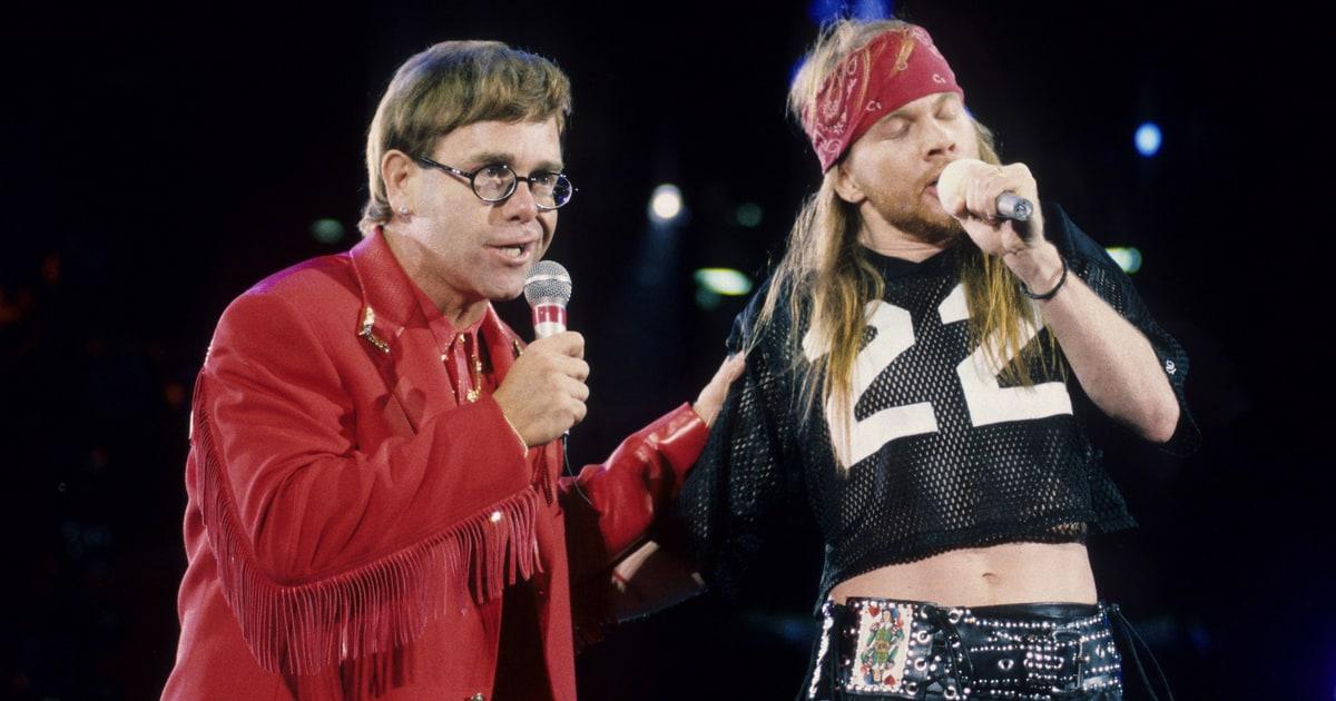 The Fall Movie Wallpaper Elton John Axl Rose Play Bohemian Rhapsody After