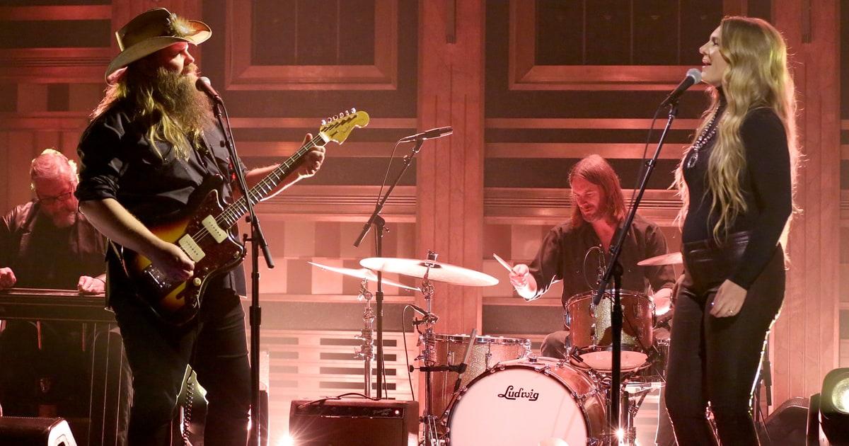 See Chris Stapleton Morgane Stapleton Duet on Fallon  Rolling Stone