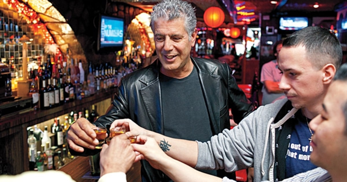 A Drunken Afternoon With Anthony Bourdain  Mens Journal