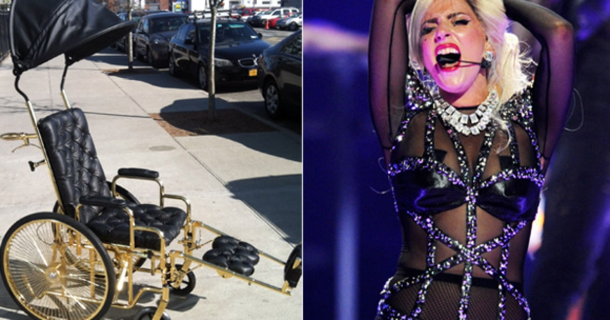 Lady Gagas Gold Wheelchair All the Details  Rolling Stone