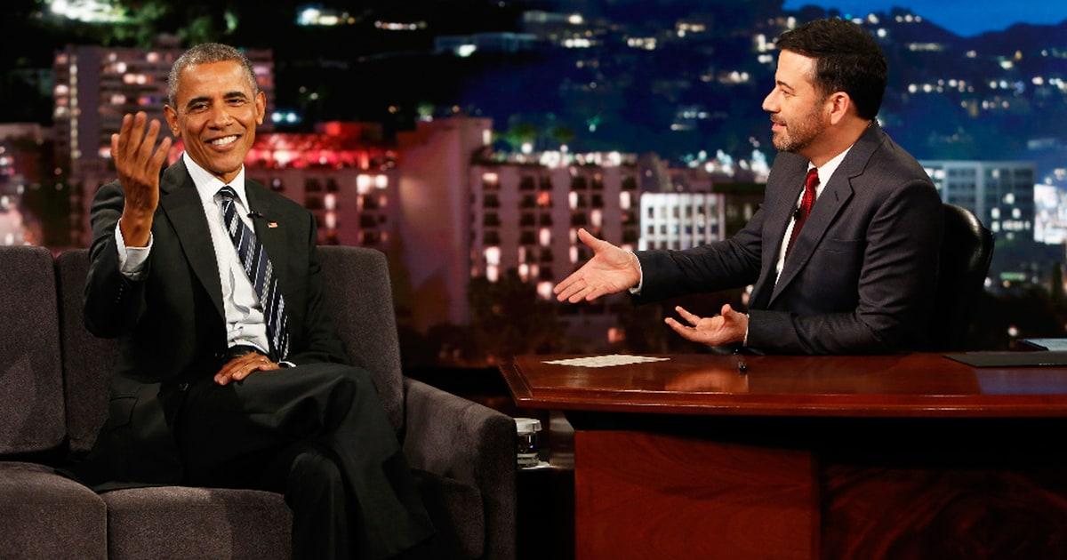 Barack Obama Talks Donald Trump Bill Murray on Kimmel