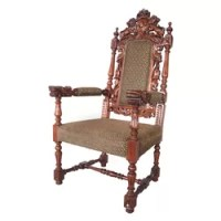 Celtic Dragon Throne Arm Chair