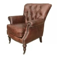 Design Toscano The Fitzjames Throne Leather Arm Chair ...