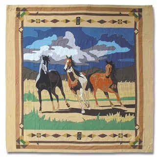 Patch Magic Wild Horses Shower Curtain from Wayfair!