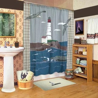 Lighthouse By The Bay Shower Curtain From Wayfair!