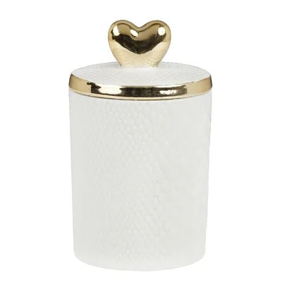 Heart Top Fennel and Fig Jar Candle