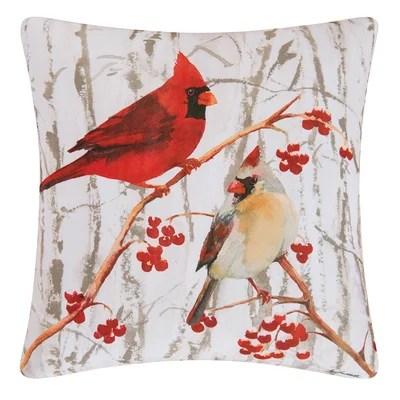 Letourneau Cardinal Pair Throw Pillow