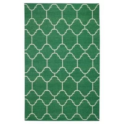 Serpentine Emerald Area Rug Rug Size: 7' x 9'