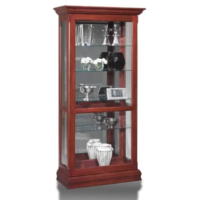 Curio Cabinet Finish Dark Cherry