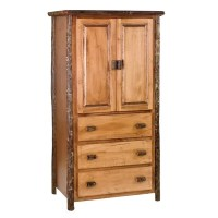 How To Get Hickory Linen Cabinet Finish: Rustic Maple